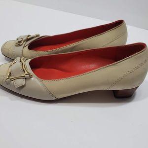Celine Buckle Kitten Heel Flats, sz 36/6 US